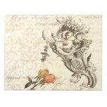 Diseño barroco elegante del Cupid y del damasco de Libretas Para Notas