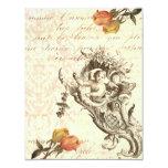 Diseño barroco elegante del Cupid y del damasco Invitacion Personalizada