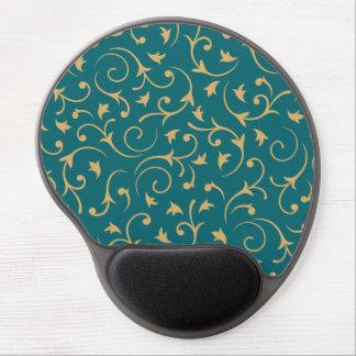 Diseño barroco - oro en trullo alfombrillas de raton con gel