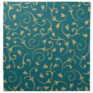 Diseño barroco - oro en trullo servilletas de papel