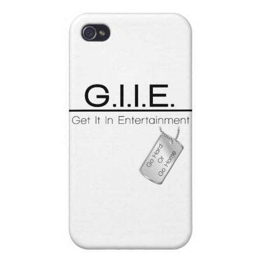 Diseño básico del logotipo del entretenimiento de  iPhone 4 carcasa