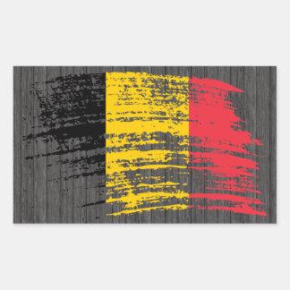 Diseño belga fresco de la bandera pegatina rectangular