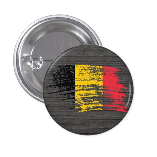 Diseño belga fresco de la bandera pin redondo 2,5 cm