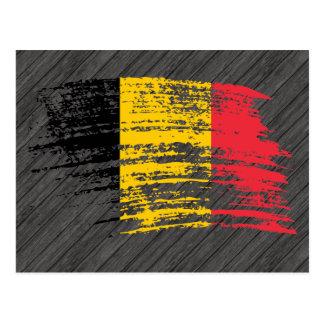 Diseño belga fresco de la bandera tarjetas postales