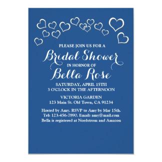 """Diseño bhp del boda del confeti del corazón de los invitación 4.5"""" x 6.25"""""""