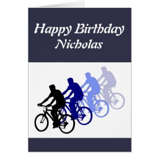 Diseño Biking conocido de encargo del feliz Tarjeta De Felicitación