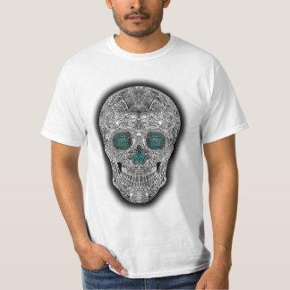 Diseño blanco #2 del cráneo remera