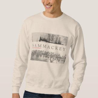 Diseño blanco de Crewneck del arte de Sam Mackey Suéter