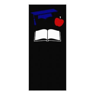 Diseño blanco de la graduación y azul rojo invitacion personalizada