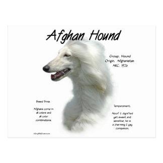 Diseño (blanco) de la historia del afgano tarjeta postal