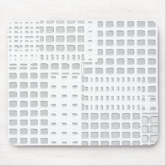 Diseño blanco del edificio alfombrillas de ratón