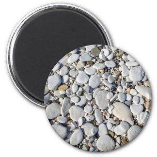 Diseño blanco del modelo de las piedras imán redondo 5 cm