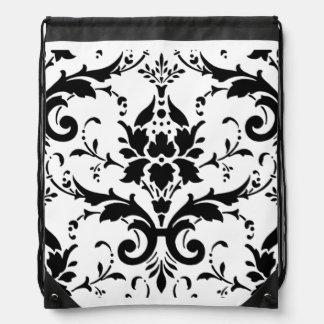 Diseño blanco negro del modelo del damasco mochilas