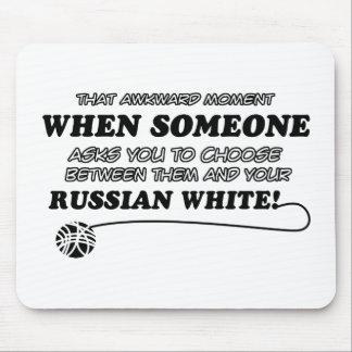 diseño blanco ruso tapete de ratones