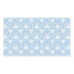 Diseño blanco y azul claro del damasco tarjeta de negocio