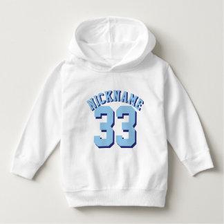 Diseño blanco y azul del jersey de los deportes