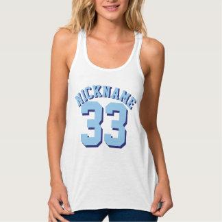 Diseño blanco y azul del jersey de los deportes de