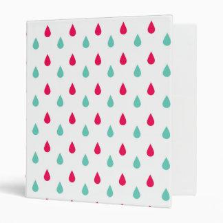 """Diseño blanco y azul rojo de la gota de agua carpeta 1"""""""