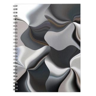 Diseño blanco y negro abstracto cuaderno