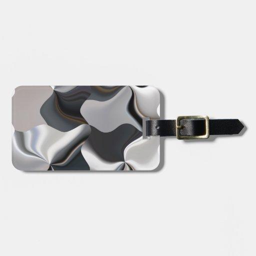 Diseño blanco y negro abstracto etiqueta de equipaje