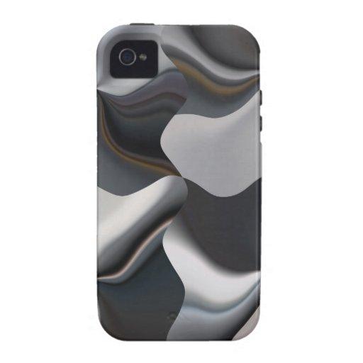 Diseño blanco y negro abstracto iPhone 4/4S carcasas
