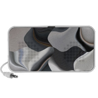 Diseño blanco y negro abstracto laptop altavoces