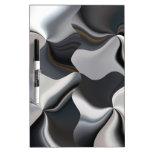 Diseño blanco y negro abstracto pizarras