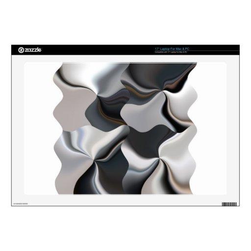 Diseño blanco y negro abstracto calcomanías para portátiles