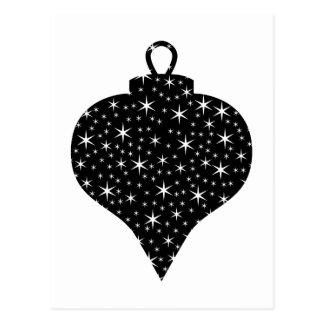 Diseño blanco y negro de la chuchería del navidad tarjeta postal