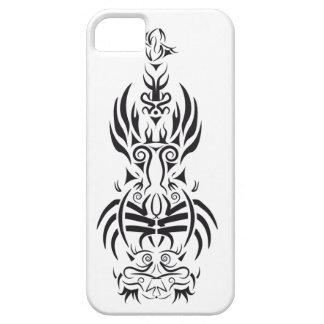 Diseño blanco y negro de la guitarra tribal funda para iPhone SE/5/5s