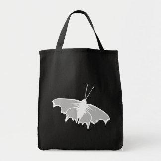 Diseño blanco y negro de la mariposa bolsa