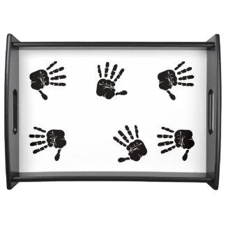 Diseño blanco y negro de las impresiones de la bandeja