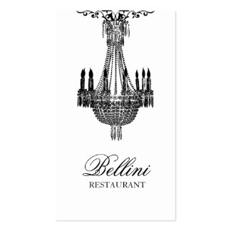 Diseño blanco y negro de lujo elegante tarjeta de visita