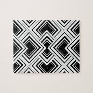 Diseño blanco y negro del art déco rompecabeza
