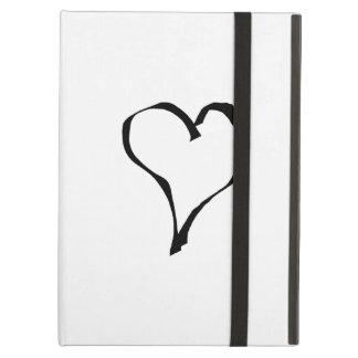Diseño blanco y negro del corazón del amor