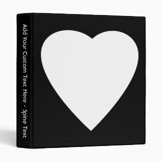 """Diseño blanco y negro del corazón del amor carpeta 1"""""""