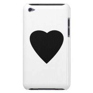 Diseño blanco y negro del corazón del amor iPod Case-Mate cárcasas