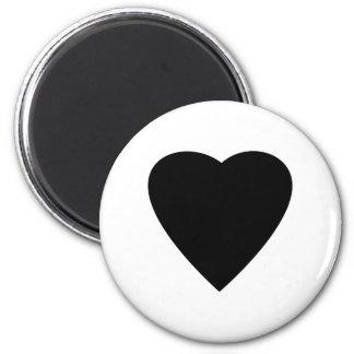 Diseño blanco y negro del corazón del amor iman para frigorífico