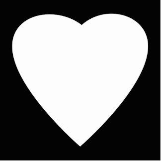 Diseño blanco y negro del corazón del amor imán fotoescultura