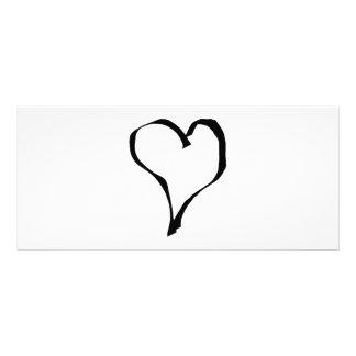 Diseño blanco y negro del corazón del amor lonas personalizadas