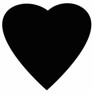 Diseño blanco y negro del corazón del amor pin fotoescultura