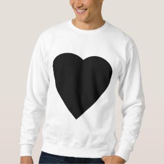 Diseño blanco y negro del corazón del amor sudadera