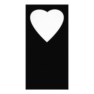 Diseño blanco y negro del corazón del amor tarjeta personal