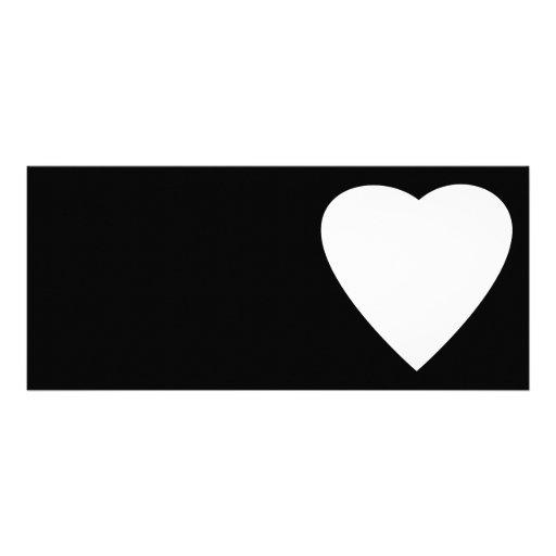 Diseño blanco y negro del corazón del amor tarjeta publicitaria