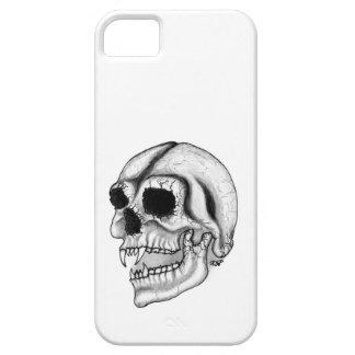 Diseño blanco y negro del cráneo del vampiro iPhone 5 cobertura