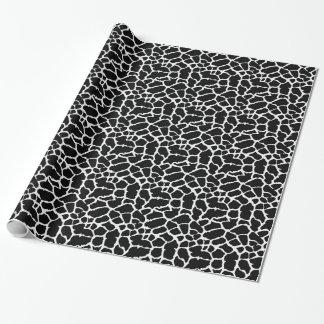 Diseño blanco y negro del estampado de animales de papel de regalo