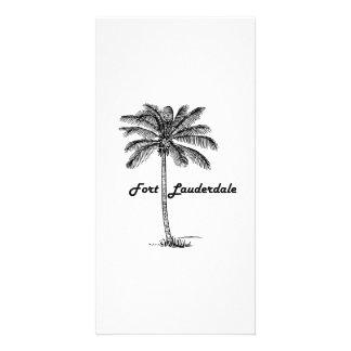 Diseño blanco y negro del Fort Lauderdale y de la Tarjetas Personales Con Fotos
