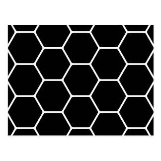 Diseño blanco y negro del hexágono postal