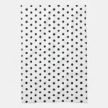 Diseño blanco y negro del lunar de los puntos simp toalla de cocina