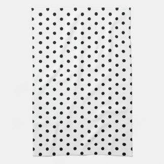 Diseño blanco y negro del lunar de los puntos simp toalla